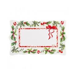 Vassoio carta tema Natale