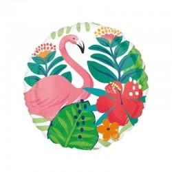 Palloncino 18 mylar Palme e Fenicottero Tropical Jungle