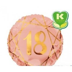 Pallone mylar 18 Geoide rosa gold n 18