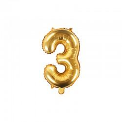 Palloncino n 3 oro 14/35 cm