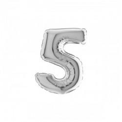 Palloncino n 5 argento 35 cm/14