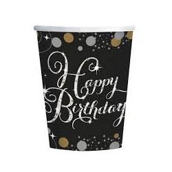 Bicchieri Happy birthday sparkling
