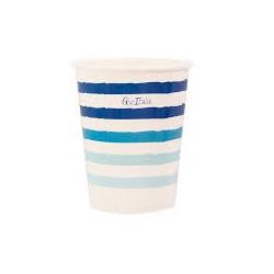 Bicchieri linee sfumature blu