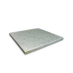 Cake board argento quadrato 36 cm