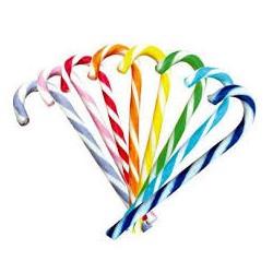 Candy canes colorati 10 pz