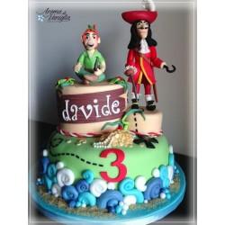 Capitan Uncino: soggetto decorativo per torte