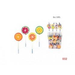Lecca lecca con immagine al gusto di frutta 125 pz