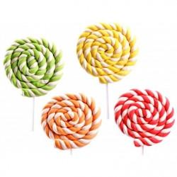 Lecca lecca cuore di marshmallow rosso, verde, arancio, giallo 12 pz