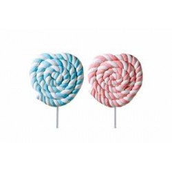 Lecca lecca di Marshmallow 12 pz rosa e celeste